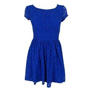 B. Darlin Lace Cap Sleeves Skater Dress